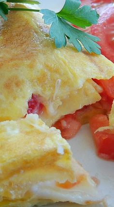 Four Cheese & Tomato Omelets