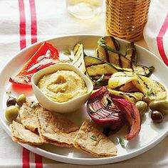 Grilled Vegetable Meze Plate Recipe - LEBANESE RECIPES