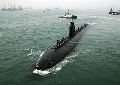The Los Angeles-class fast attack submarine USS Hampton (SSN 767)