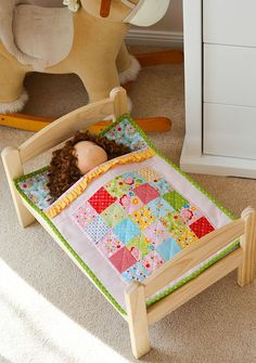 Learn how to make a cute and simple Doll Bed Quilt with Rob Appell ... : doll quilt size - Adamdwight.com