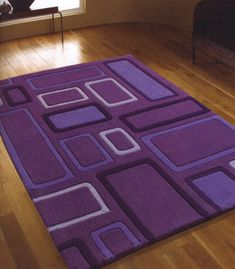 The Sunny Sunflower House: Purple Rug