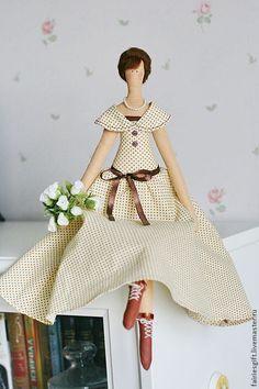 """Купить Тильда """"Оттепель"""" - бежевый, тильда, кукла Тильда, кукла текстильная, интерьерная кукла, весна"""