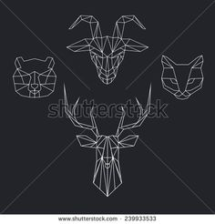 Polygonal Tattoo Stock Photos, Images, & Pictures | Shutterstock