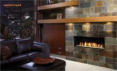 LInear gas fireplace