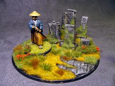 Carmen's Fun Painty Time: Samurai vignettes: The cemetary Reference Images, Vignettes, Samurai, Miniatures, Japanese, Fantasy, Projects, Scale, Fun