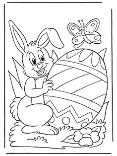 happy easter bunny egg coloring pages Free Easter Coloring Pages, Easter Coloring Sheets, Easter Bunny Colouring, Halloween Coloring Pages, Coloring Book Pages, Printable Coloring Pages, Egg Coloring, Easter Templates, Easter Pictures