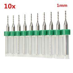 10pcs 1.0mm Mini PCB Drill Bits Tungsten Steel For CNC Print Circuit Board