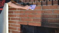 How to clean brick fireplace - DIY