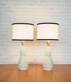 Halverwege de eeuw moderne goud Speckle keramische lampen