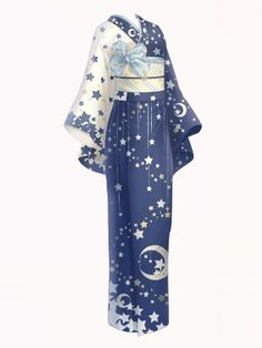 【Miracle Niki】 Yukata with dress starry sky pattern Cosplay Outfits, Anime Outfits, Fashion Outfits, Drawing Anime Clothes, Dress Drawing, Fashion Design Drawings, Fashion Sketches, Yukata, Mode Kimono