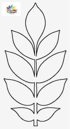 Felt Flower Template, Paper Flower Patterns, Leaf Template, Paper Flowers Craft, Giant Paper Flowers, Felt Flowers, Flower Crafts, Diy Flowers, Paper Crafts