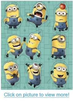 Despicable Me Minion Party Stickers