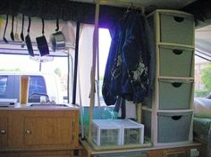 pop up camper ideas | camping / good idea for pop up camper storage