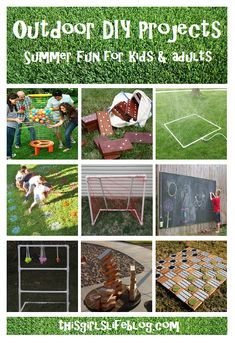 Outdoor DIY Projects: Summer Fun for Kids & Adults. Fun games for Summer parties. Backyard Games, Outdoor Games, Outdoor Fun, Backyard Picnic, Backyard Parties, Lawn Games, Outdoor Ideas, Outdoor Projects, Diy Projects