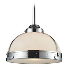 Elk Lighting Elk Lighting Braiden Polished Chrome Pendant Light with Bowl / Dome Shade 66351/1