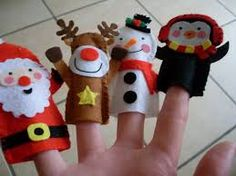 Afbeeldingsresultaat voor felt finger puppets