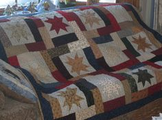 Floating Stars Quilted Couch Throw