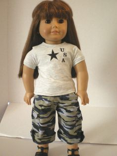 American Girl Doll Clothes Convertible Camouflage by fashioned4you