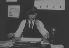 One of the earliest pictures of Walt Disney from one of his 'Laugh-O-Gram' films.  The early 1920's.