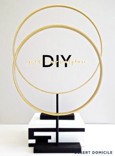 Desert Domicile: Thrift Benefit Project: DIY Gold Ring Sculptures