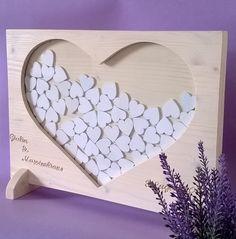 Libro degli ospiti di nozze in legno massello di abete con personalizzazione sposi e data (Cod. MAT005)