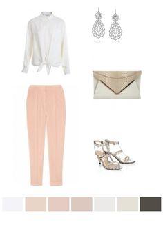 white, pink, beige