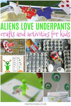 aliens love underpants crafts and activities for kids - maths and literacy ideas, sensory play and easy craft ideas perfect for eyfs and older