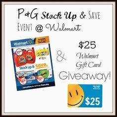 Take It From Me: Stock Up and Save Event at Walmart! {Review & Giveaway}
