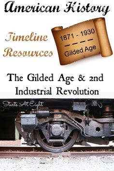 American History Timeline Resources: The Gilded Age and Industrial Revolution - Cocktailsparty Study History, Mystery Of History, Us History, Teaching American History, Teaching History, Die Titanic, Social Studies Games, Middle School History, High School