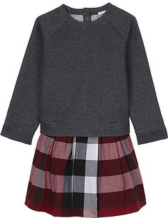 a2318ffb72 BURBERRY Check skirt cotton dress 4-14 years