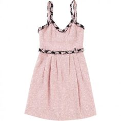 DRESS CHANEL (4.875 RON) ❤ liked on Polyvore featuring dresses, vestidos, pink dress, strap dress, strappy dress, zip dress and zipper dress