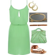 love the colors, love the way its paired with delicate jewelry, nice summer ensemble