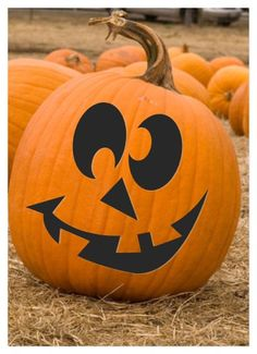 Cute Halloween Pumpkin Carving Jack O'Lantern Pattern by Shopncrop, $5.00