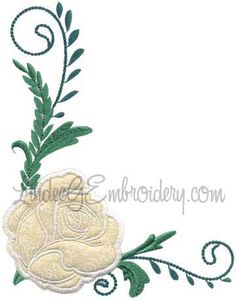 Rose 9 from Elegant Roses Applique.   #machineembroidery #applique #rose #floral