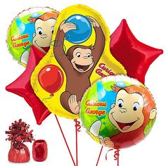 """Curious George Birthday Balloon Kit - Costume Super Center - Toys""""R""""Us"""