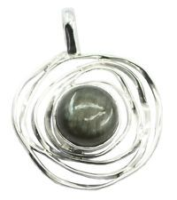 Labradorite 925 Sterling Silver elegant handcrafted Pendant gift UK