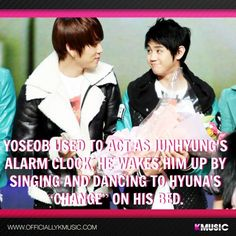 B2ST's Yoseob's fact :) Hahaha! that is sooo Yoseob! So CUTE!! I can just imagine the funny, lively, cute Yoseobiieee dancing & singing 'Change' :)