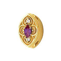 14k+White+or+Yellow+Gold+Created+Alexandrite+Diamond+Victorian+Bracelet+Slide+80894