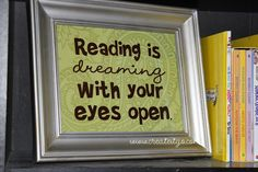 Put on reading shelves with kids books in classroom