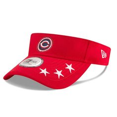 9efdb081b21 Men s Cincinnati Reds New Era Red 2018 MLB All-Star Workout Visor