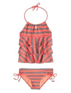 Neon Stripe Tankini Swimsuit | Tankinis | Swimsuits | Shop Justice by bobbie
