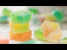 Sweet and Sour Kohaku-to |HidaMari Cooking Jelly Desserts, Asian Desserts, Candy Recipes, Sweet Recipes, Dessert Recipes, Japanese Candy, Japanese Sweets, Bangla Recipe, Candy Crystals