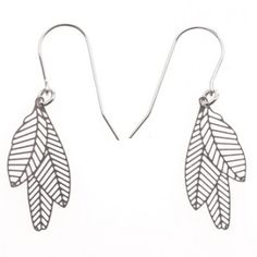 Really in a 'feather' stage ATM!!! Stainless Steel Feather Earrings #polli