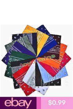 e5474f097d3e The Rock Collection Lot de 12 bandana en coton avec décoration cachemire  Violet orange gris bleu cerise rouge noir rose jaune vert citron bl…