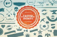 Castor Ornaments by Albatross on Creative Market