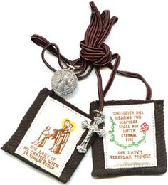 """Ask your Catholic friends what a scapular is, and you'll get a variety of responses:  """"It's a sacramental that comes with promises.""""  """"You wear it to show devotion to Mary.""""  """"One of those things on strings.""""  """"Doesn't it have something to do with your shoulders?""""  All these responses are accurate. But let's unpack them a bit to increase our understanding of this sometimes misunderstood devotion.  In contemporary usage, a scapular (from the Latin for """"shoulder blade"""") refers to a sacramental…"""