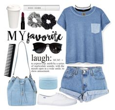 """""""My favorite:)"""" by sebi86 ❤ liked on Polyvore featuring Levi's, MANGO, Ray-Ban, Michael Kors, Bobbi Brown Cosmetics, Berry, GHD, Smashbox, Aveda and Charlotte Russe"""