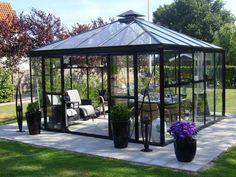 fristående uterum - Sök på Google Conservatory, Outdoor Gardens, Gazebo, Solar, Outdoor Structures, Nature, House, Beautiful, Sheds