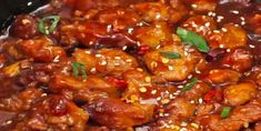 Poulet General Tao, Crockpot Recipes, Cooking Recipes, Everyday Food, Kung Pao Chicken, Poultry, Recipies, Pork, Food And Drink