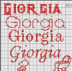 giorgia punto croce - Cerca con Google